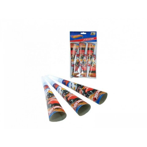 PACK 4 TROMPETAS DE CARTON 20 CMS HOT WHEELS