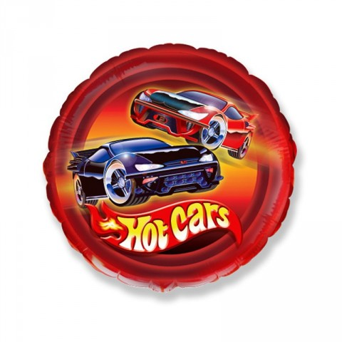 Globo de foil hot Cars 45cm