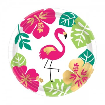 Platos Aloha Summer flamingo 18cm