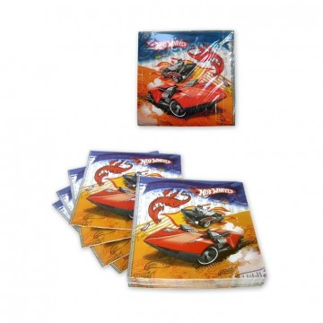 PACK 15 SERVILLETAS 33X33 CM HOT WHEELS