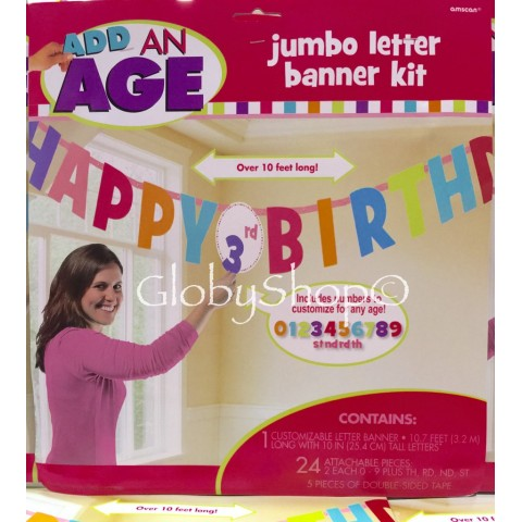 Cartel Jumbo Happy Brithday personalizable
