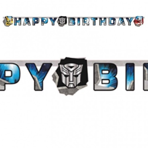 CARTEL HAPPY BIRTHDAY TRANSFORMERS