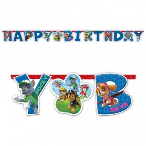 Banner Happy Birthday Patrulla Canina