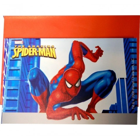 Invitaciones Spiderman 6 uds.