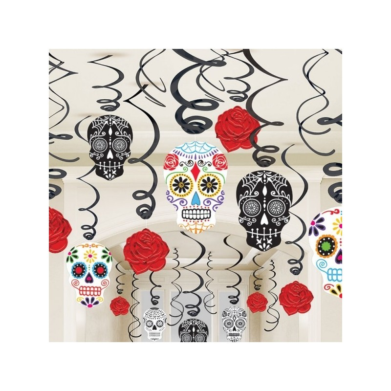 "Decoraciones de remolino ""Day of the Dead"""