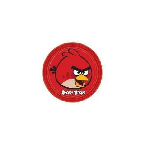 Platos Angry Birds grandes 8 uds.