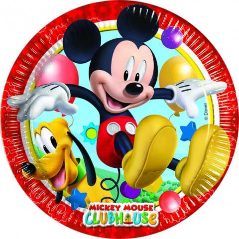 Platos Mickey Mouse Club House de 23cm - 8 UDS