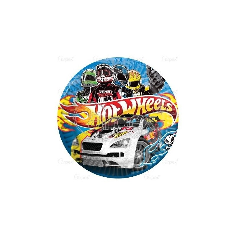 PACK 5 PLATOS 20.5 CMS HOT WHEELS